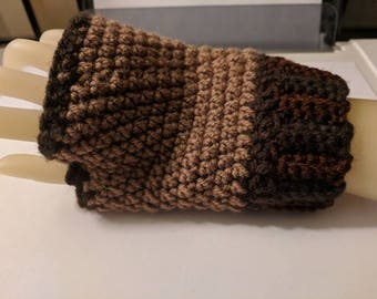 Made to order fingerless gloves wrist warmers ribbed edge