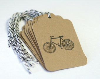 Bicycle Vintage Tag Handmade Set 10 Wedding Wish Tree Merchandise Tags hipster