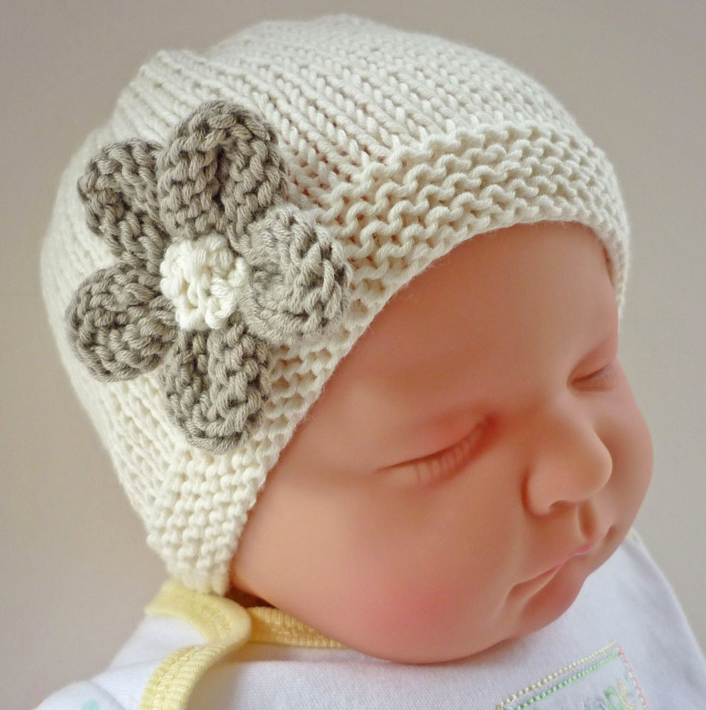 Knitting Pattern Baby Girl Hat Pattern Baby Hat Pattern
