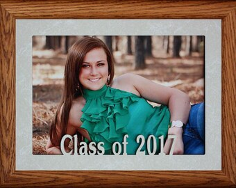 5x7 JUMBO ~ Class of 2017 (or any year you need) LANDSCAPE Photo Frame ~ Holds a 5x7 Photo ~ Wonderful Gift Frame for the Graduating Senior!