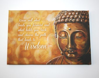 "Wise Buddha -  9""x12"" Canvas Print"