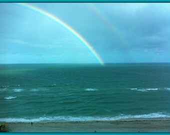 Aqua Rainbow. Digital Download. Image print Gift or wallpaper.
