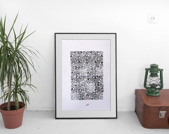 "Poster design ""Echo"" pattern"