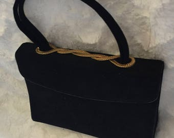 1960's Black & Gold Top Handle Bag