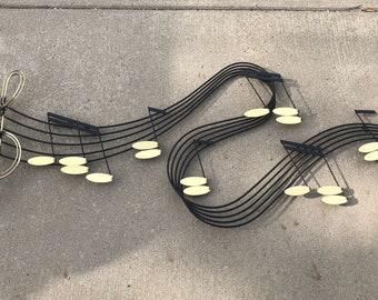 Vintage Brass Curtis Jere Music wall Sculpture