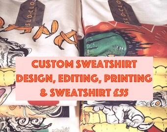 Personalised Jumper, Personalised Sweatshirt, Custom Sweater, Custom Pullover, Personalised Gift, Custom Gift, Birthday Present, Unique Gift
