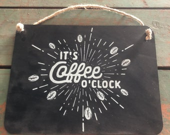 "Metal Sign ""It's Coffee Time""  by JunkFx"