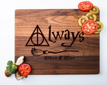 Harry Potter Cutting Board Personalized Cutting Board Harry Potter Always Chopping Board Custom Harry Potter Gifts