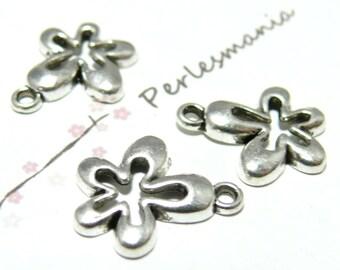 5 Silver 70's 2-5515 VAviel ref flower pendants
