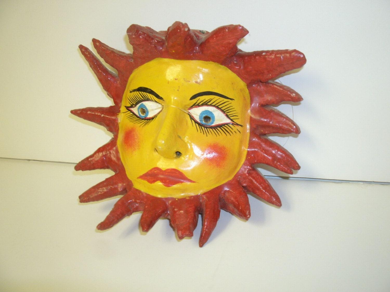 Sun Mask Wall Hanging