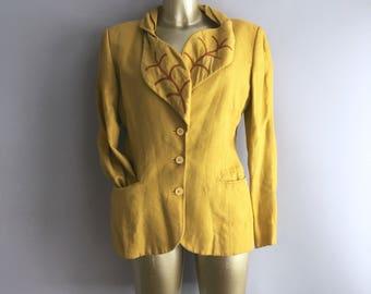 Vintage Joe Casely Hayford Linen jacket Size 10 - 12 UK