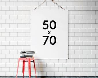 Any print 50x70 cm