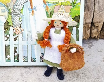 Anne of Green Gables Doll, Anne Shirley, Green Gables, OOAK Doll, Wildflower Toys