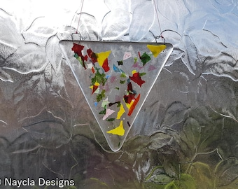 Fused Glass Bunting - Large