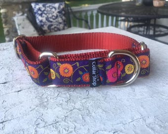 "Theo's Garden -  1"" Martingale Collar"