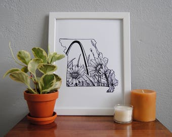 Saint Louis print, Saint Louis art, Saint Louis decor