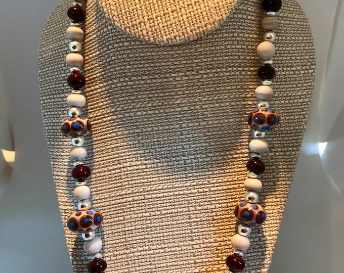 The Brown and Blue Necklace