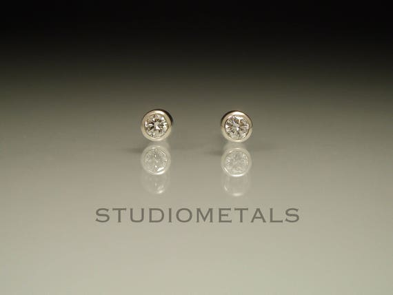 this il item earrings stud diamond tiny like bezel listing studs