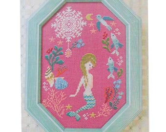 Modern Cross Stitch Pattern | Gera! Counted Cross Stitch Pattern by Kyoko Maruoka - The LITTLE MERMAID
