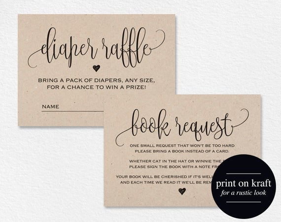 business card raffle sign