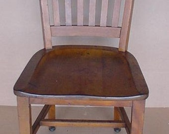 Vintage Wood Office Chair Bankers Courthouse Chair University Of Pittsburgh  Chair Numbered Marble U0026 Shattuck Company.