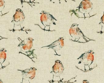 Robin Dawn Chorus Linen Look Clarke & Clarke Country Curtain Upholstery Fabric