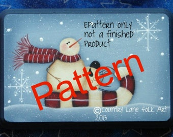 EPATTERN, 0011 candy cane express, painting patterns, best selling items, snowman pattern, Christmas pattern, winter epattern,