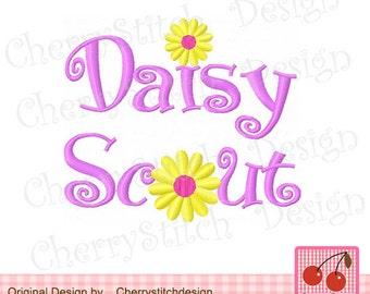 "Daisy scout Machine Embroidery Design - 4x4 5x5 6x6"""