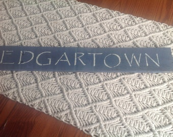 Edgartown Sign, MARTHAS Vineyard, Massachusetts, coastal,nautical, beach,starfish, shells