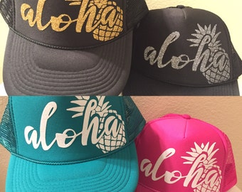 Aloha Pineapple Trucker Hat