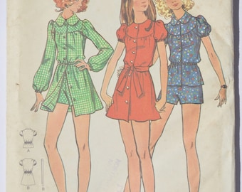 Vintage Sewing Pattern Butterick 6512 Top and Shorts 1970's