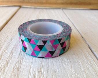 Neon Triangle Geometric Washi Tape