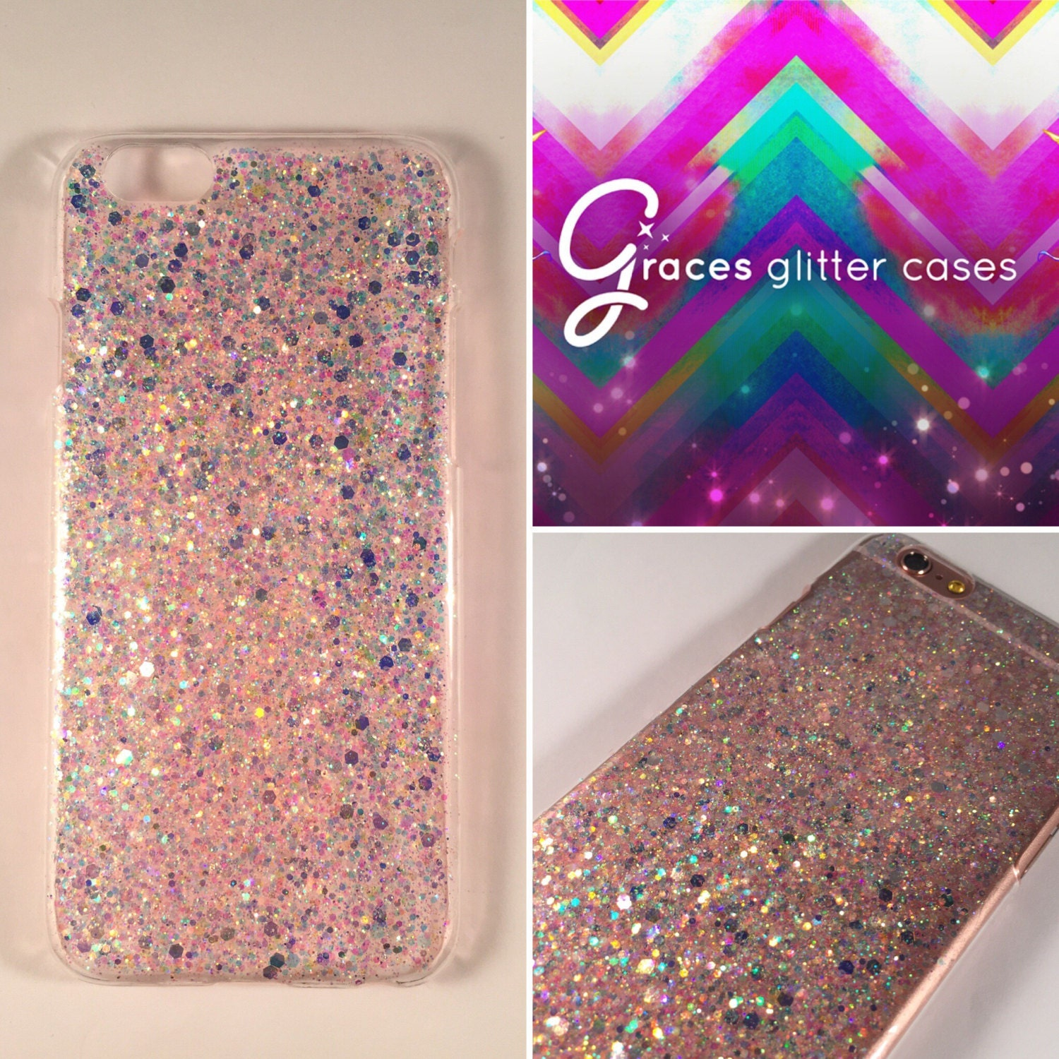 iphone 7 purple glitter case