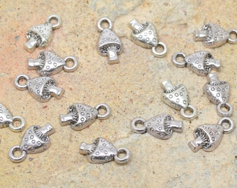vegetable forest silver mushroom charms