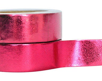 Washi Tape -Red Foil Tape -Strawberry Red Washi Tape -Decorative Tape  -Embellishment  -Project Life -Planner -Wedding -Craft -Scrapbooking