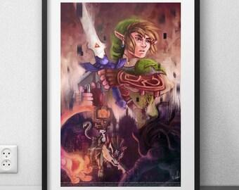 "Zelda Twilight Princess art print FANART (12 X 18 ""/ 6 X 9"")"