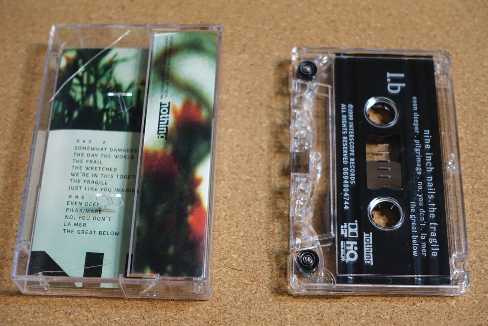 The Fragile (2 Tapes) by Nine Inch Nails NIN Vintage Cassette Tape
