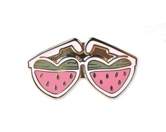 Watermelon Sunnies Enamel Pin