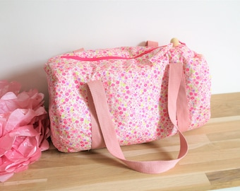 Bag style pink floral Liberty, girl, dance bag duffel bag sports pool
