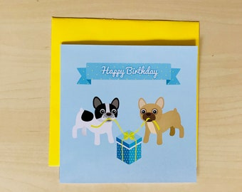 Gay French Bulldog Card (Also perfect for friends!)- Gay birthday card- gay birthday gift - gay boyfriend birthday card - gay boyfriend card