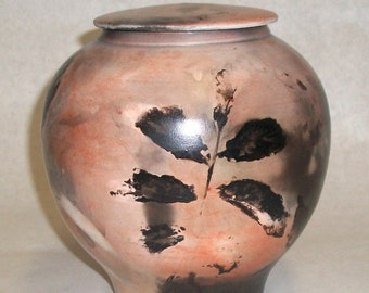 Smokeware Pit Fired Lidded Container