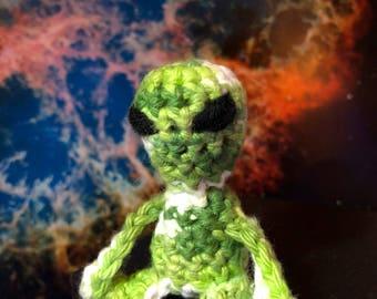 Mini alien keychain