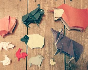 Miniature Origami Animals - Farm Selection