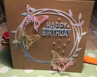 Happy birthday with sweet butterflies