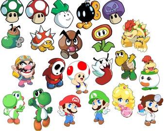 Super Mario Bros. Art Stickers