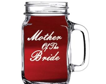 Personalized Mason Jar, Engraved Mason Jar, Wedding Favor Mason Jar Etched Mason Jar Wedding Party Mason Jar, Mothers Mason Jar