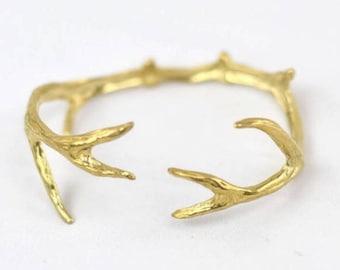 Deer Antler Cuff Gold