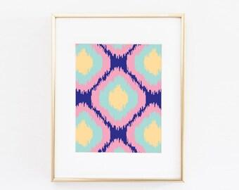 Abstract Modern Printable Art | Navy and Pink Art Print  | Abstract Wall Art | Modern Art | Minimalist Art | Abstract Print | Home Art |