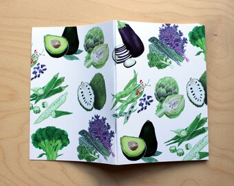 Vegetables Illustrated Notebook, A6, 48 pages
