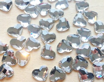 Heart Swarovski Crystal Flatback Non-Hotfix 10mm